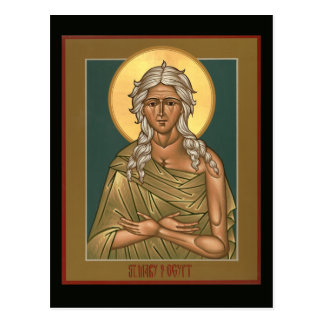 Saint Mary of Egypt Prayer Card Postcard