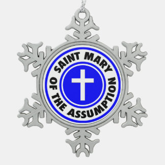 Saint Mary of the Assumption Pewter Snowflake Ornament
