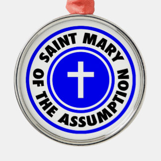 Saint Mary of the Assumption Silver-Colored Round Ornament