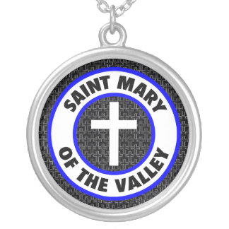 Saint Mary of the Valley Round Pendant Necklace