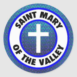Saint Mary of the Valley Round Sticker