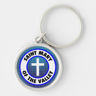 Saint Mary of the Valley Silver-Colored Round Keychain