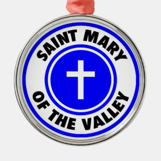 Saint Mary of the Valley Silver-Colored Round Ornament