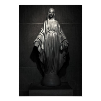 Saint Mary Statue Poster