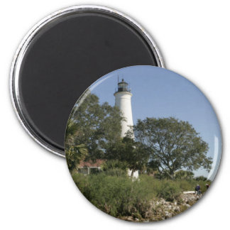 Saint Marys Lighthouse 2 Inch Round Magnet