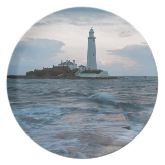 Saint Mary's Lighthouse at Whitley Bay Plate
