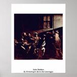 Saint Matthew By Michelangelo Merisi Da Caravaggio Poster
