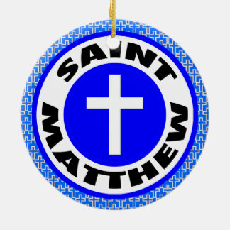 Saint Matthew Ceramic Ornament