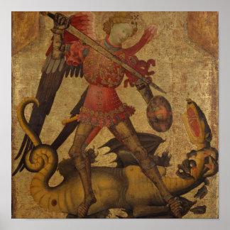 Saint Michael and the Dragon Poster
