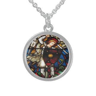 SAINT MICHAEL ARCHANGEL {Sterling Silver} Sterling Silver Necklace