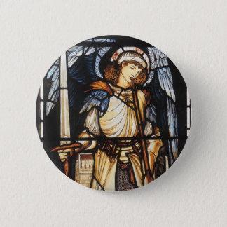 Saint Michael by Burne Jones, Vintage Archangel 2 Inch Round Button