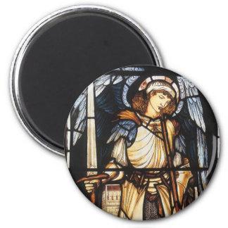 Saint Michael by Burne Jones, Vintage Archangel 2 Inch Round Magnet