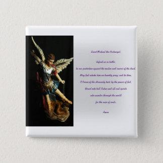 Saint Michael Prayer 2 Inch Square Button