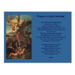Saint Michael Prayer postcard