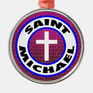 Saint Michael Silver-Colored Round Ornament