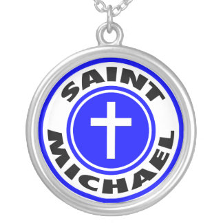 Saint Michael Silver Plated Necklace