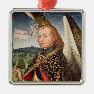 Saint Michael the Archangel, 1460-66 Silver-Colored Square Ornament