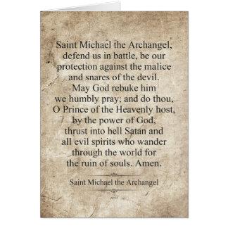 Saint Michael the Archangel Card