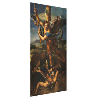 Saint Michael Vanquishing Satan Gallery Wrapped Canvas