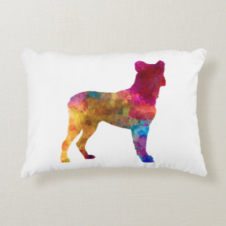 Saint Miguel Cattle Dog in watercolor Decorative Pillow