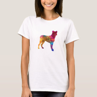 Saint Miguel Cattle Dog in watercolor T-Shirt
