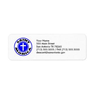 Saint Monica Return Address Label