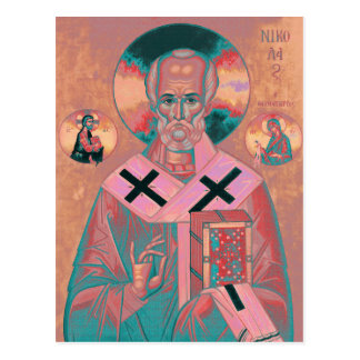 Saint Nicholas Icon Postcard