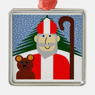 Saint Nicholas Metal Ornament