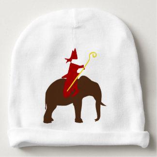 Saint Nicholas on an elephant Baby Beanie