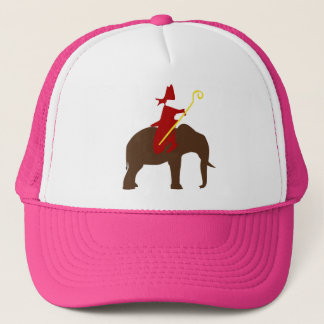 Saint Nicholas on an elephant Trucker Hat