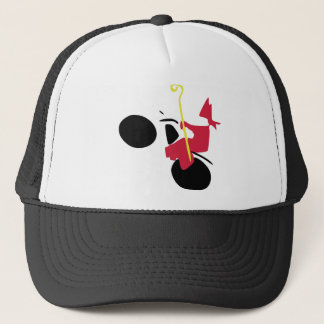 Saint Nicholas on engine Trucker Hat