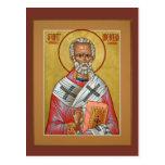 Saint Nicholas Prayer Card Postcard