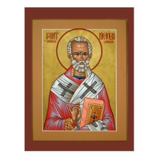 Saint Nicholas Prayer Card Postcard
