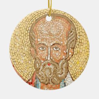 Saint Nicholas Round Ceramic Ornament