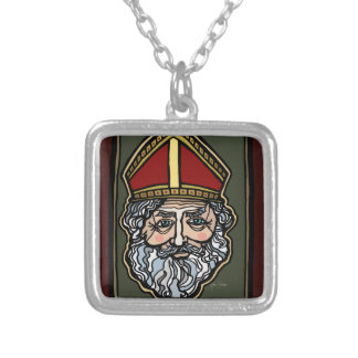 Saint Nicholas Silver Plated Necklace