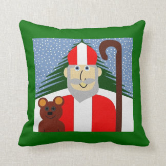 Saint Nicholas Throw Pillow