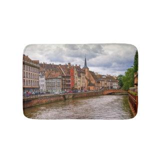 Saint-Nicolas dock in Strasbourg, France Bath Mat