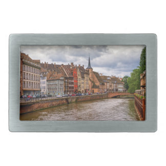Saint-Nicolas dock in Strasbourg, France Belt Buckle
