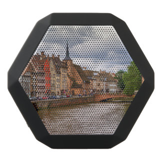 Saint-Nicolas dock in Strasbourg, France Black Bluetooth Speaker