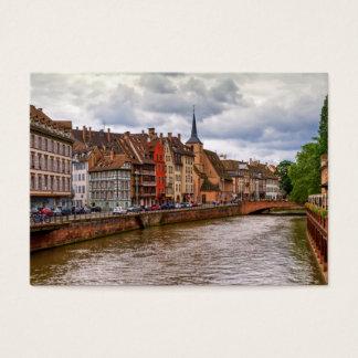 Saint-Nicolas dock in Strasbourg, France Business Card