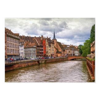 Saint-Nicolas dock in Strasbourg, France Card