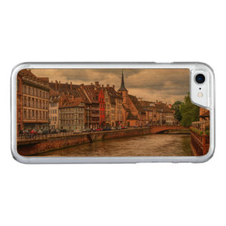 Saint-Nicolas dock in Strasbourg, France Carved iPhone 8/7 Case