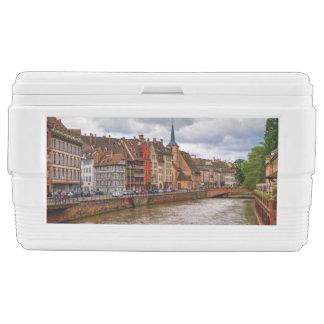 Saint-Nicolas dock in Strasbourg, France Chest Cooler