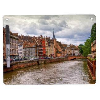 Saint-Nicolas dock in Strasbourg, France Dry Erase Board With Keychain Holder
