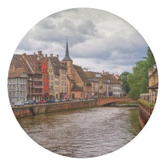 Saint-Nicolas dock in Strasbourg, France Eraser