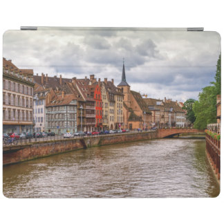 Saint-Nicolas dock in Strasbourg, France iPad Cover