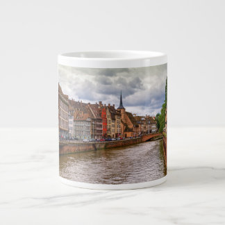 Saint-Nicolas dock in Strasbourg, France Large Coffee Mug