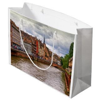 Saint-Nicolas dock in Strasbourg, France Large Gift Bag