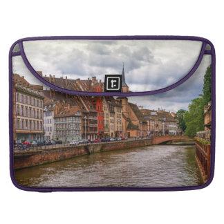 Saint-Nicolas dock in Strasbourg, France MacBook Pro Sleeves