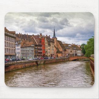 Saint-Nicolas dock in Strasbourg, France Mouse Pad